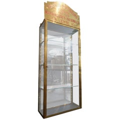 French Brass and Glass Boutique Display Vitrine