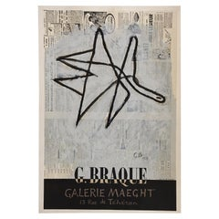 Original Vintage Poster George Braque Galerie Maeght 1956 Exhibition Lithograph