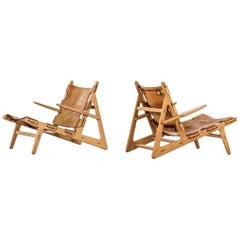 Børge Mogensen Hunting Easy Chairs by Fredericia Stolefabrik in Denmark
