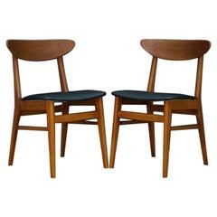 Chairs Teak Retro Danish Design Classic