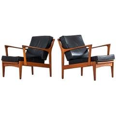 Bertil Fridhagen Easy Chairs Model Kuba by Bröderna Andersson in Sweden