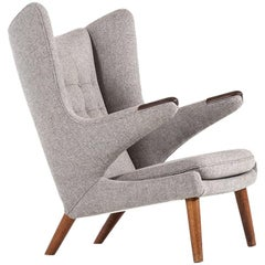 Hans Wegner Easy Chair Model Papa Bear by A.P Stolen in Denmark