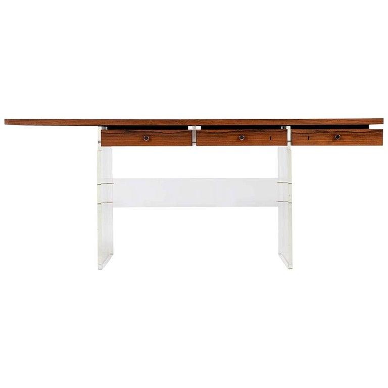 Poul Nørreklit Freestanding Desk by Sigurd Hansens Møbelfabrik in Denmark