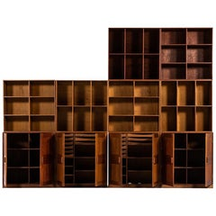 Large Bookcase in Teak Produced in Denmark