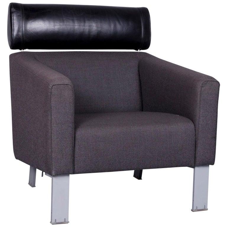 Leolux Patachou Designer Armchair Fabric Grey Chair