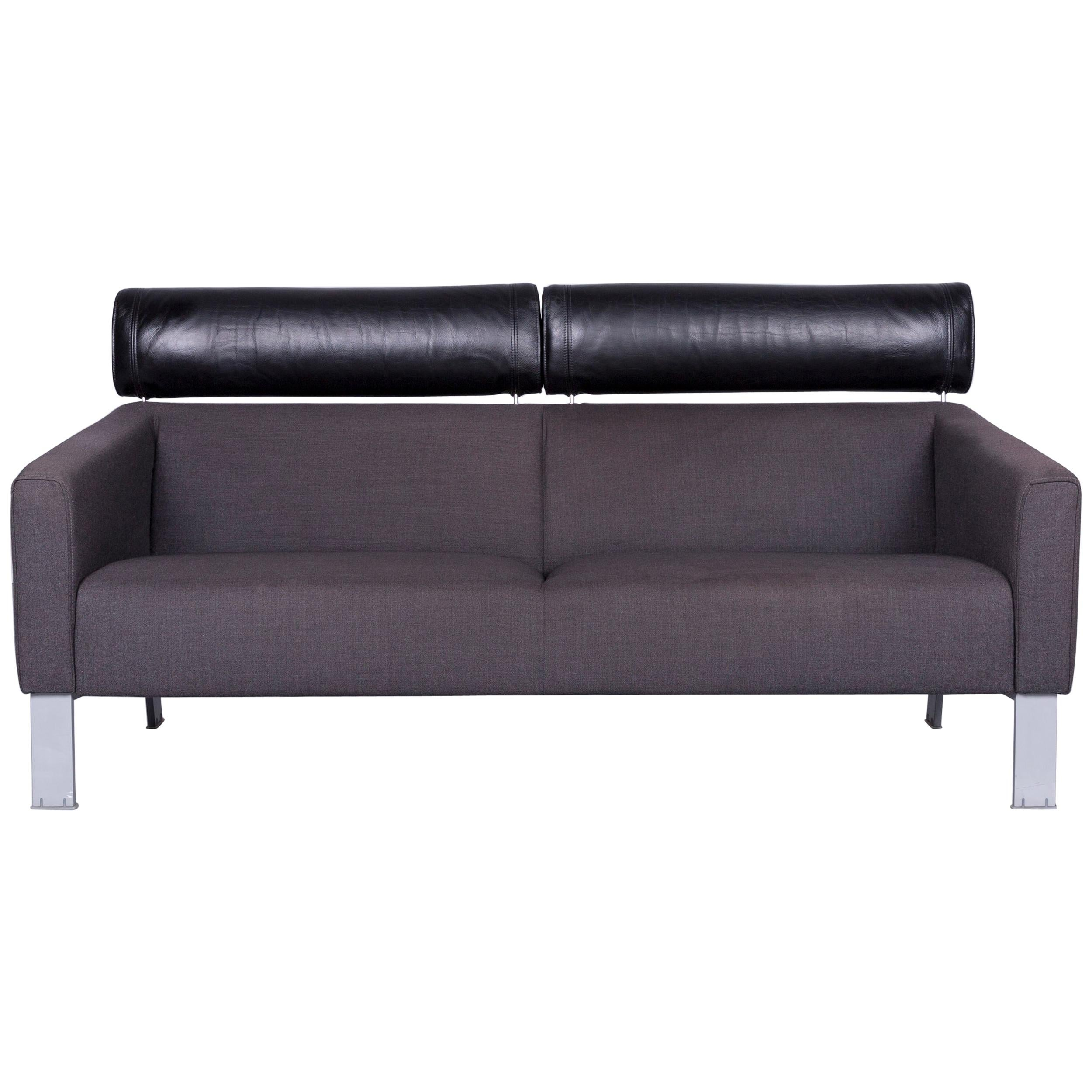 Leolux Patachou Designer Sofa Fabric Grey Two Seat Couch