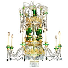 Large Eight Branch Chandelier in the Neoclassical Manner