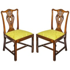 English 18th Century George III Chippendale Mahogany Dining Chairs