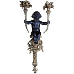 French Bronze Sconce, Appliqué Napoleon III, circa 1870