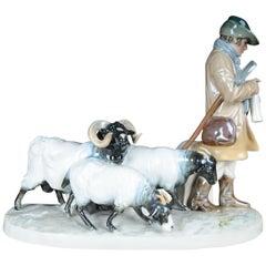 Meissen Figure Shepherd Group by Otto Pilz - Art Nouveau