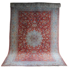 Fine Persian Isfahan Rug, Antique Approx 100 Years Old