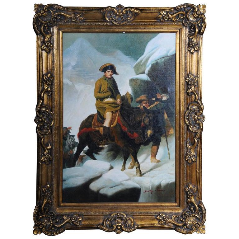 20th Century Oil Painting Napoleon on His Horse