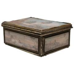 Small Box with Decorative Scenes of the Reveillon Aerostat