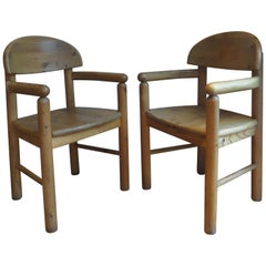 Carver Dining Chairs by Rainer Daumiller for Hirtshals Sawmil, 1970s, Set of Two
