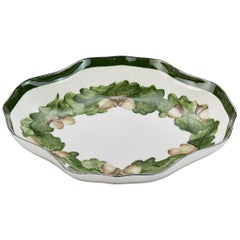Oval Porcelain Pastry Dish with Oak Leaf Garlande Sofina Boutique Kitzbuehel