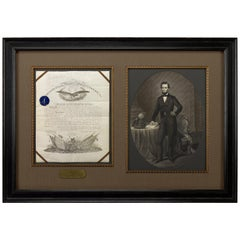 Abraham Lincoln Signed Presidential Civil War Military Appointment, circa 1864