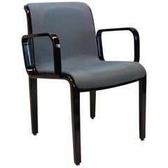 Bill Stephens Black Lacquered Armchair for Knoll Furniture, Mid-1990s