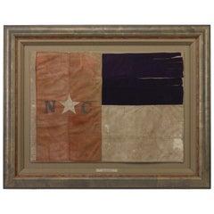 North Carolina Hand-Cut and Sewn State Flag, Civil War Reunion Standard, 1870