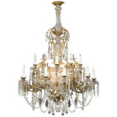 20th Century Neoclassical Style Fifteen Candle Chandelier