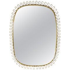 Italian 1960s Brass 'Twirl' Mirror