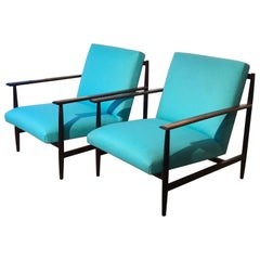 Joaquim Tenreiro Attributed Pair of Armchairs Made of Solid Rosewood