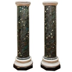 Pair of Italian Neoclassical Faux Marble Pedestals