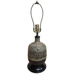 Mid-Century Modern Art Pottery Ceramic Table Lamp