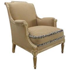 Provasi Parcel-Gilt Louis Vxi Style Upholstered Bergere