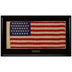 "37-Star ""Dancing Stars"" American Flag, Celebrating Nebraska Statehood, 1867-1876"