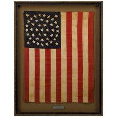 "44-Star ""Medallion Pattern"" American Parade Flag, 1890-1896"