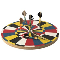 Decorative Dart Board with Three Darts