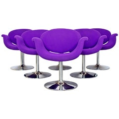 Mid-Century Modern Pierre Paulin Artifort Set of Six Tulip Dining Chairs 1960s