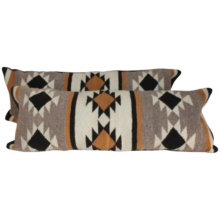 Navajo Indian Weaving Bolster Pillows