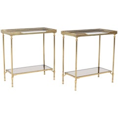 Pair of Hollywood Regency Side Tables by Maison Jansen, 1970s