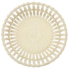 Creamware Chestnut Basket