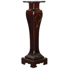 19th Century Mahogany French Jardiniere Pedestal Stand for Busts Bronze Marble