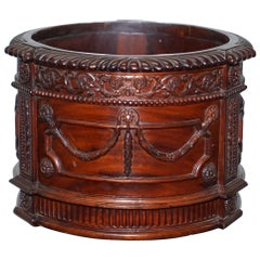 Lovely Solid Mahogany French Imperial Style Plant Pot Ornate Detailing All over