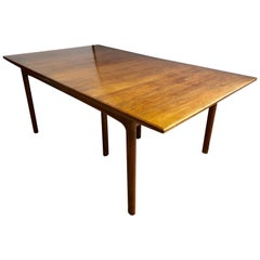 Fine Mid -Century Modern Efraim Ljung, DUX Dining Table with Three Leaves