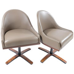 """Medea Mobilidea """"Chic"""" Swivel Chairs Designed by Umberto Asnago, Pair"""