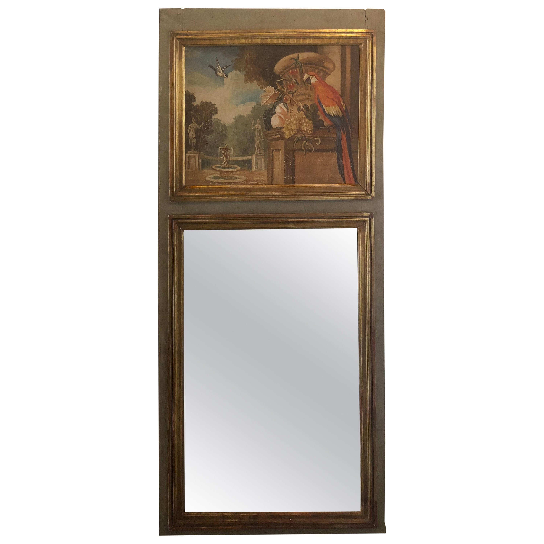 French Louis XVI Trumeau Mirror