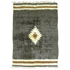 Sirt Vintage Turkish Mohair Rug