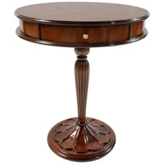 Medea Liberty Round Walnut Side Table