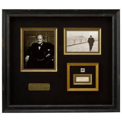 Winston Churchill Signature with Prime Minster Envelope Mark, circa 1940s
