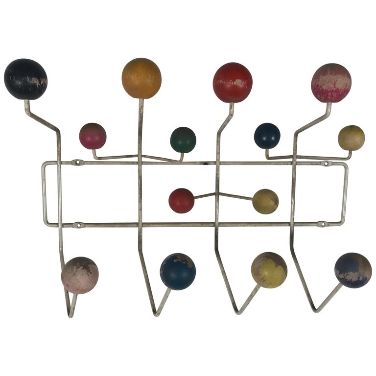 1950s Original Eames Hang-It-All Coat Rack, Charles and Ray Eames for Tigrett