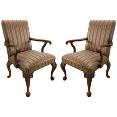 Angelo Cappellini Chippendale Style Armchairs, Pair