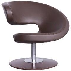 Varier Peel Designer Leather Club Chair Brown One-Seat Chair