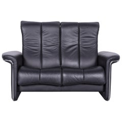 Ekornes Stressless Soul Relax Sofa Black Leather Tv Recliner Two-Seat