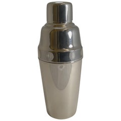 Art Deco English Silver Plate Cocktail Shaker by Mappin and Webb, circa 1930