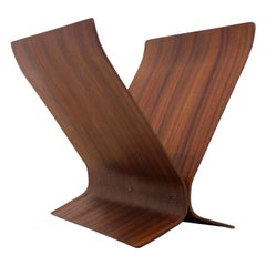 Magnificent Modern Bentwood Magazine Rack by Paul Rowan for Umbra