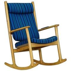 Kurt Ostervig Ash Rocking Chair Danish Design